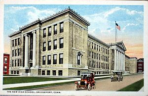 Central High School (Connecticut) - Central High School in the early 20th century