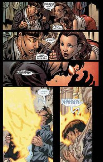 Chamber (comics) - Chamber's powers first manifest, art by Georges Jeanty