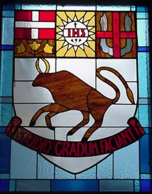 Brebeuf College School - Crest from the second chapel.