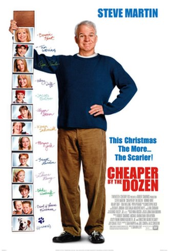 Cheaper by the Dozen (2003 film) - Theatrical release poster