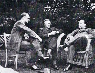 Edward Clark (conductor) - Clark (l) with Arnold Bax and Sir Henry Wood, 1934