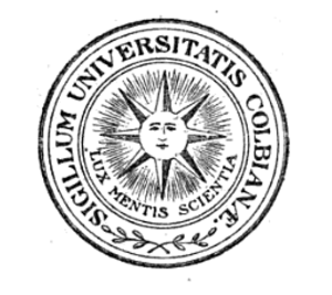 Seal of Colby College - The emblem of Colby University, c. 1895