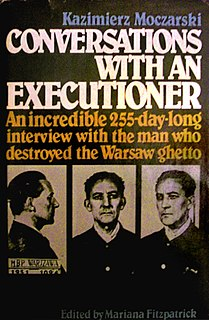book by Kazimierz Moczarski