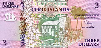 Cook Islands dollar - Image: Cook Islands P7 3Dollars (1992) f