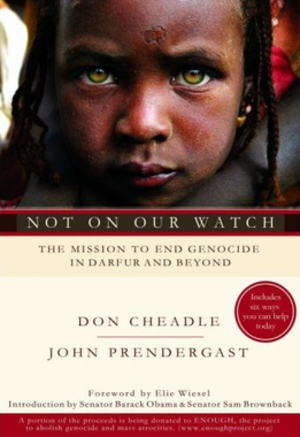 Not on Our Watch - Cover showing a Darfur refugee