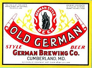 Iron City Brewing Company - Old German label
