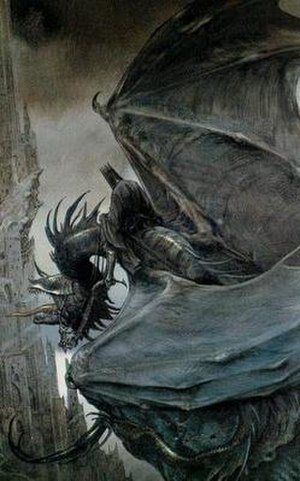 Nazgûl - The Witch-king's flying steed, as illustrated by John Howe