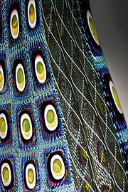 Glass created from complex murrine and zanfirico cane can possess a great deal of detail.