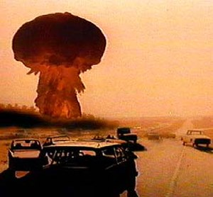 The Day After - A nuclear weapon detonates near Hays, Kansas.