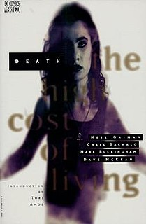 <i>Death: The High Cost of Living</i> limited comic series written by Neil Gaiman