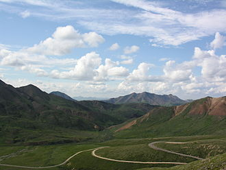 Denali National Park and Preserve - The single road within the park