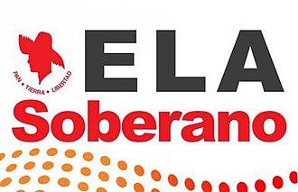 Sovereigntism (Puerto Rico) - Image: ELA Soberano PPD