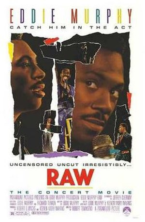 Eddie Murphy Raw - Theatrical release poster