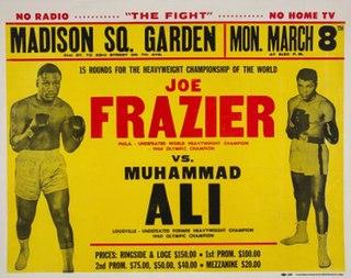 Joe Frazier vs. Muhammad Ali Boxing competition