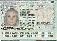 Wikipedia British Passport - gibraltar