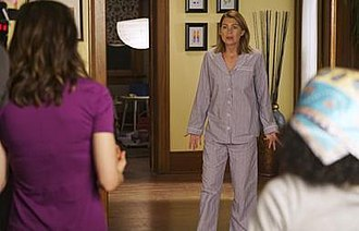 Sledgehammer (Grey's Anatomy) - Meredith discovering Amelia breaking down the wall with a sledgehammer.