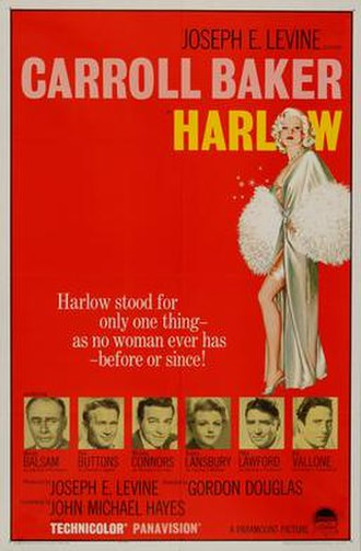 Harlow (Paramount film) - Original theatrical poster