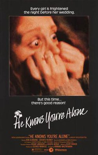 He Knows You're Alone - Original movie poster