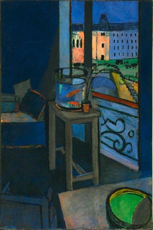 Henri Matisse, 1914, Les poissons rouges (Interior with a Goldfish Bowl), oil on canvas, 147 x 97 cm, Centre Georges Pompidou, Paris