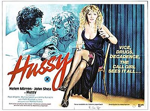Sam Peffer - Peffer's poster for Hussy (1980), starring Helen Mirren and John Shea