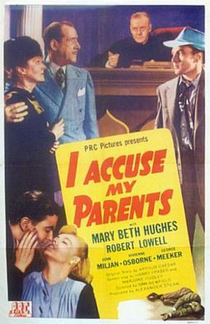 """I Accuse My Parents - One-sheet for """"I Accuse My Parents"""""""