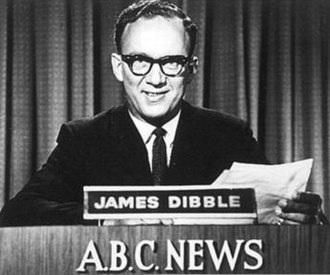 Australian Broadcasting Corporation - James Dibble, reading the first ABC News television bulletin in NSW, 1956