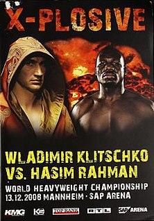 Wladimir Klitschko vs. Hasim Rahman Boxing competition