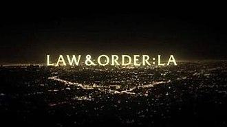 Law & Order: LA - Image: Law & Order LA Title Card