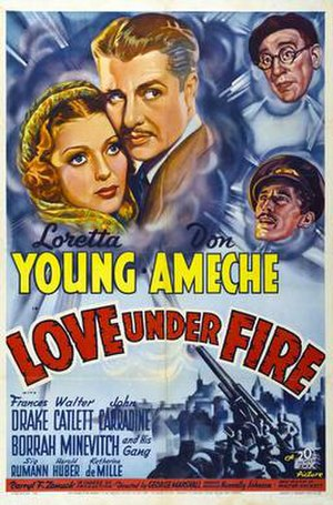 Love Under Fire - Theatrical release poster