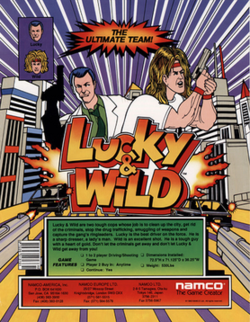 Lucky and wild arcadeflyer.png
