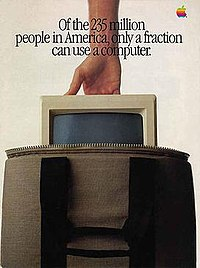 "Page 1 of the 1984 ""Macintosh Introduction"" brochure published in Newsweek magazine."