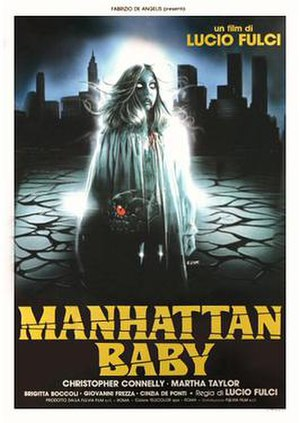 Manhattan Baby - Italian theatrical release poster by Enzo Sciotti
