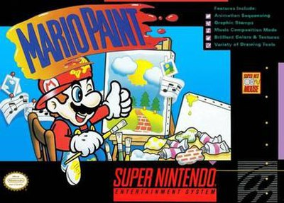 Picture of a game: Mario Paint