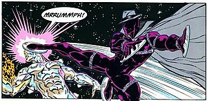 Midnight Sun (Marvel Comics) - Midnight Sun battles the Silver Surfer.
