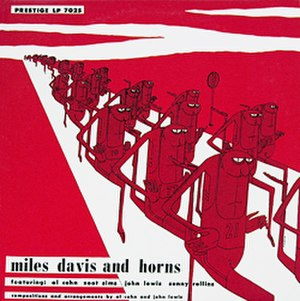 Miles Davis and Horns - Image: Miles Davis with horns Cover
