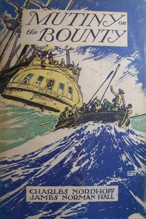 Mutiny on the Bounty (novel) - First edition dustcover