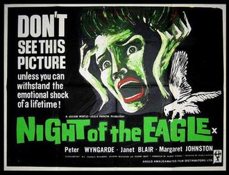Night of the Eagle - British original poster