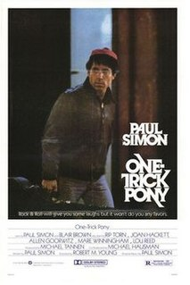 <i>One-Trick Pony</i> (film) 1980 film by Robert M. Young