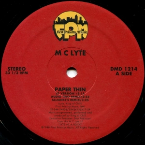 Paper Thin (MC Lyte song) 1988 single by Mc Lyte