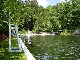 Highlands Natural Pool - A summer day at the Highlands Natural Pool.