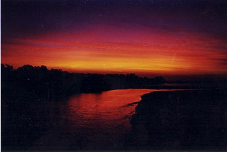 Rapid Creek, Northern Territory - Rapid Creek at sunset taken from the footbridge