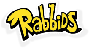 Raving Rabbids - The logo for the franchise since Rabbids Go Home""
