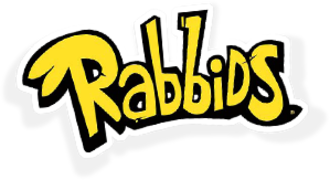 Raving Rabbids - The logo for the franchise since Rabbids Go Home