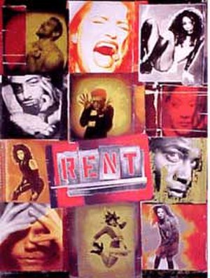 Rent (musical) - Broadway promotional poster
