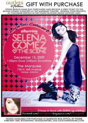 Selena Gomez & the Scene: Live in Concert - Image: Sgts licmtt