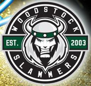 Woodstock Slammers - The Alternate logo of the Woodstock Slammers on their third jersey in the 2011-12 MHL season.
