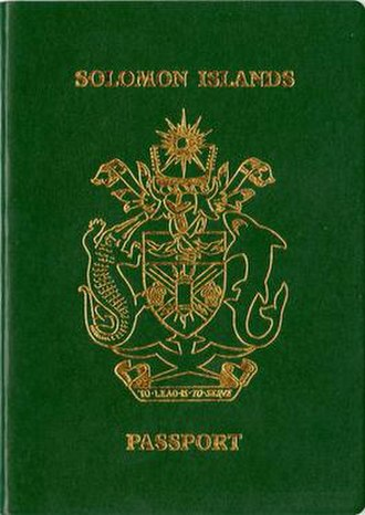 Solomon Islands passport - Solomon Islands passport front cover