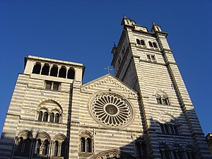 Genoa Cathedral - West front of Genoa Cathedral.