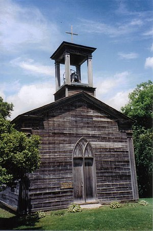 Saint Augustine Church (New Diggings, Wisconsin) - Image: St Aug New Diggins WI062003