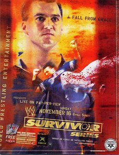 Survivor Series (2003) 2003 World Wrestling Entertainment pay-per-view event